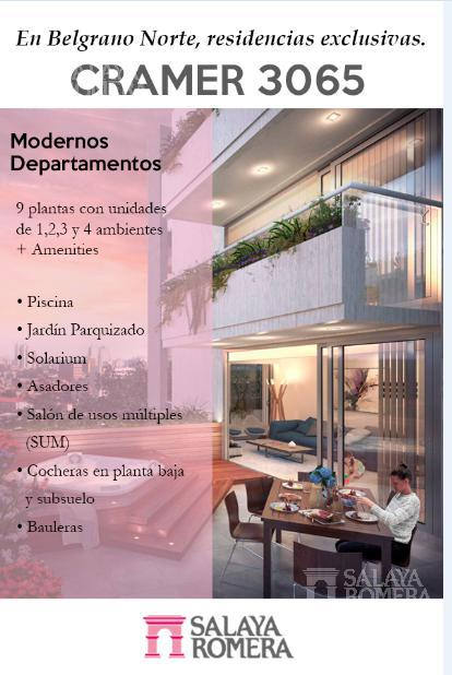 Foto Departamento en Venta en  Belgrano ,  Capital Federal  Av Cramer 3000