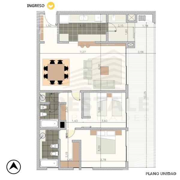 Venta departamento 2 dormitorios Rosario, zona Fisherton. Cod 4297. Crestale Propiedades