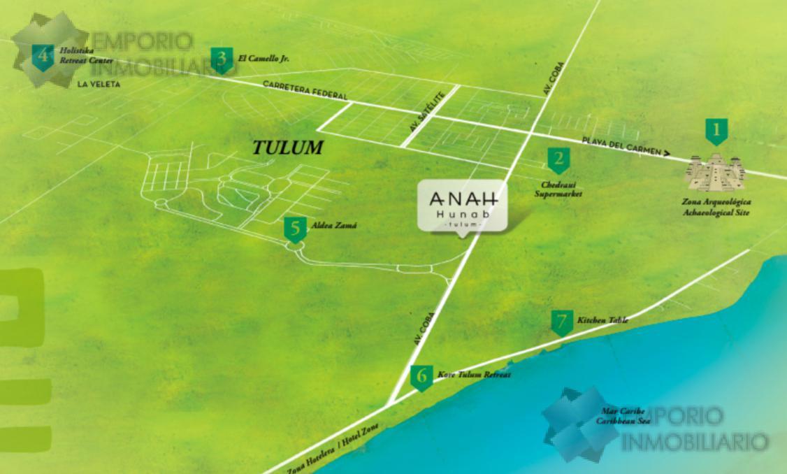 Foto Departamento en Venta en  Tulum,  Tulum  Departamento Venta Anah Hunab Tulum $277,500 USD ERM1
