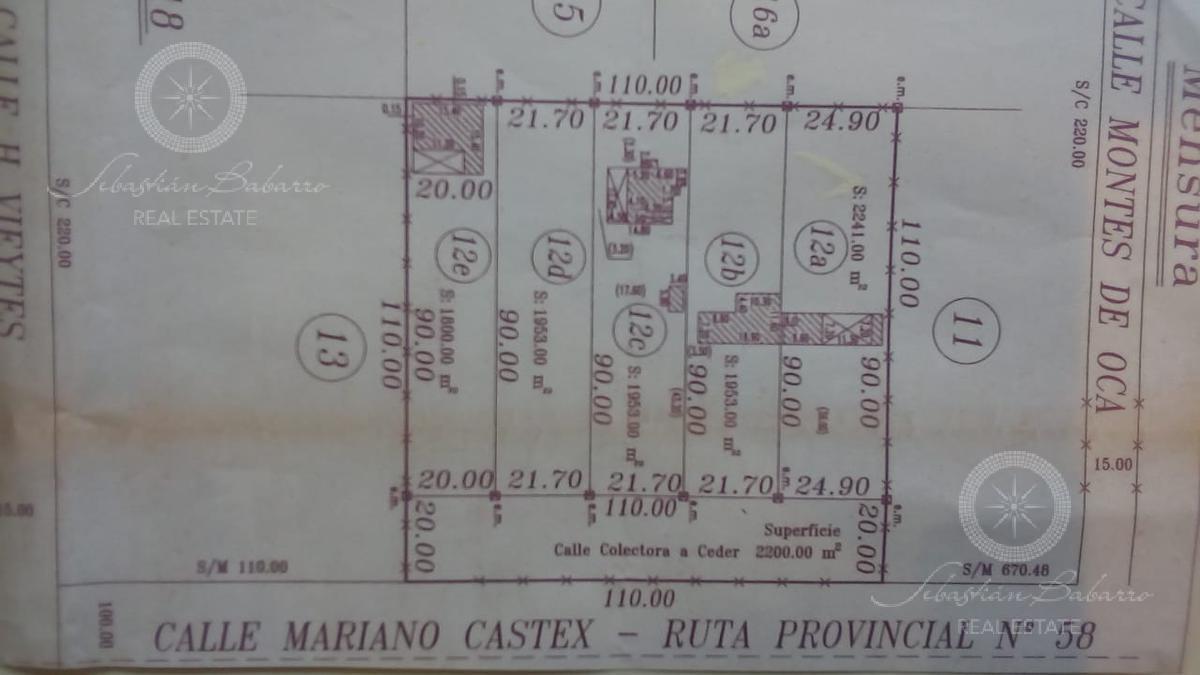 Foto Terreno en Venta en  Canning,  Ezeiza  Av Mariano Castex entre Vieytes y Montes de Oca