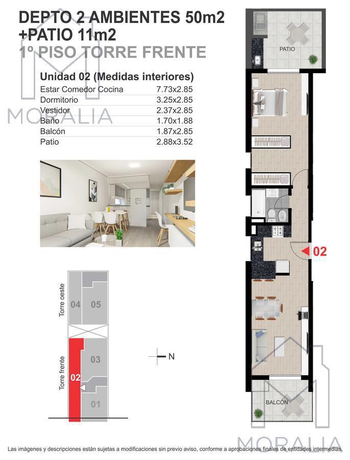 Foto Departamento en Venta en  Centro,  Rosario  Presidente Roca 1160 - Unidad 03-02 - 1 Dormitorio
