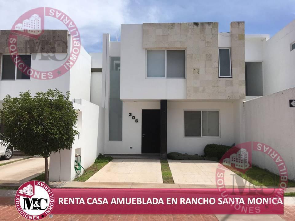 Foto Casa en Renta en  Fraccionamiento Rancho Santa Mónica,  Aguascalientes  MC RENTA CASA AMUEBLADA EN RANCHO SANTA MÓNICA