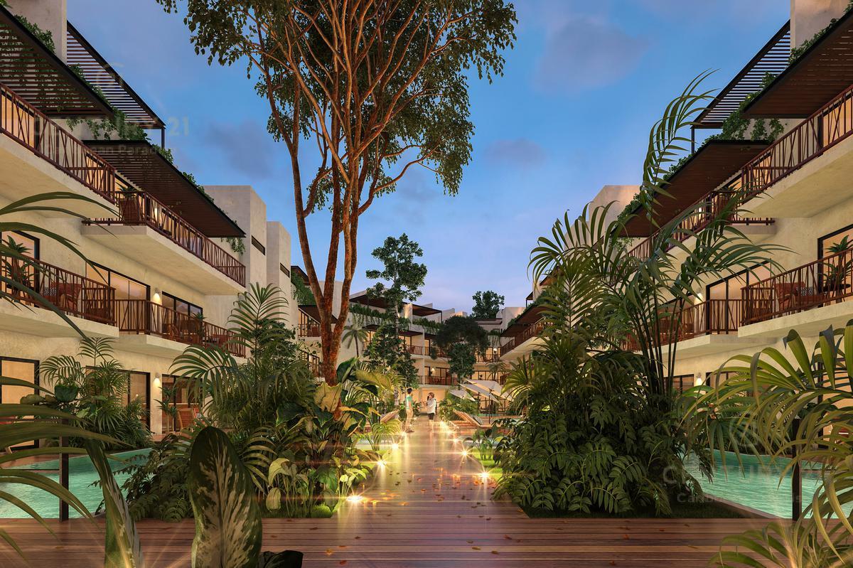 Foto Departamento en Venta en  Aldea Zama,  Tulum  Preventa, penthouse excelente calidad en Tulum P2421