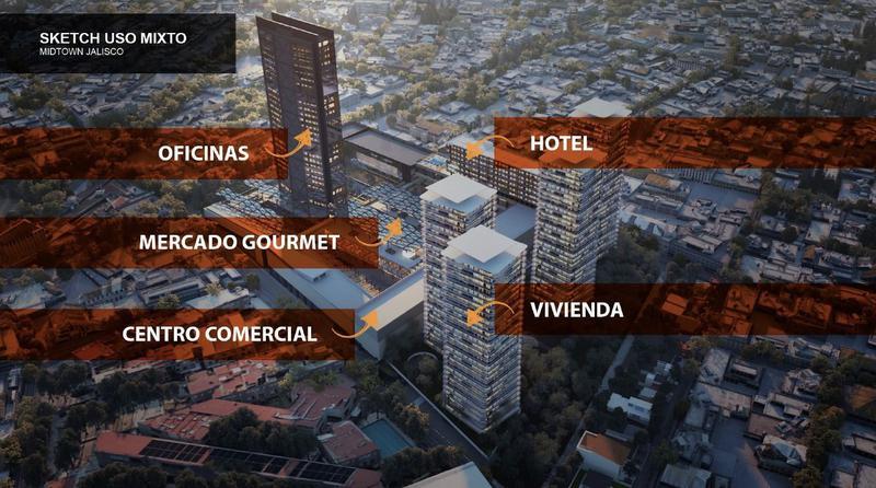 Foto Oficina en Renta en  Fraccionamiento Italia Providencia,  Guadalajara  Oficinas Corporativas Renta 1,111m2 $24,977usd Alarod E1