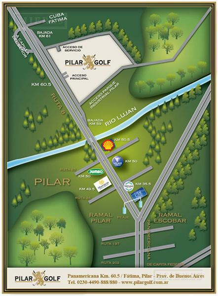MIERES Propiedades- Terreno de 1080 mts en  Pilar Golf Club