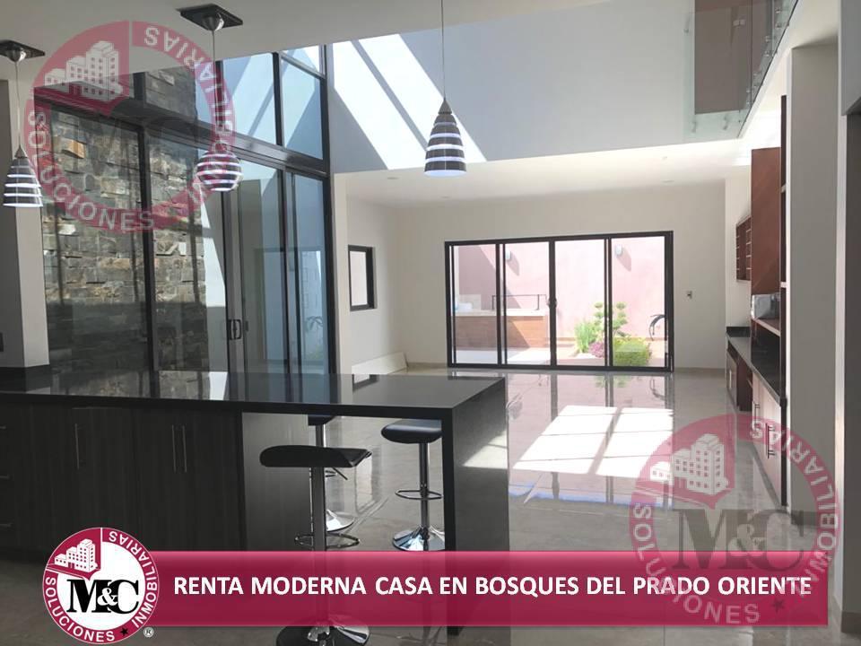 Foto Casa en Renta en  Fraccionamiento Bosques del Prado Oriente,  Aguascalientes          MC RENTA MODERNA CASA EN BOSQUES DEL PRADO ORIENTE
