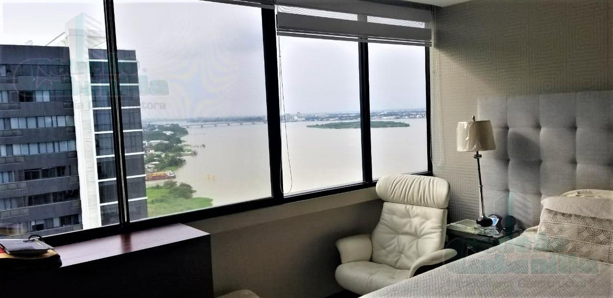 Foto Departamento en Alquiler en  Malecon 2000,  Guayaquil  ALQUILER  DEPARTAMENTO BELLINI  VISTA LATERAL AL RIO  87M2