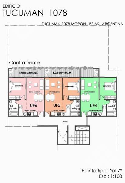 Foto Departamento en Venta en  Moron Norte,  Moron  Tucuman 1000 2º UF 2