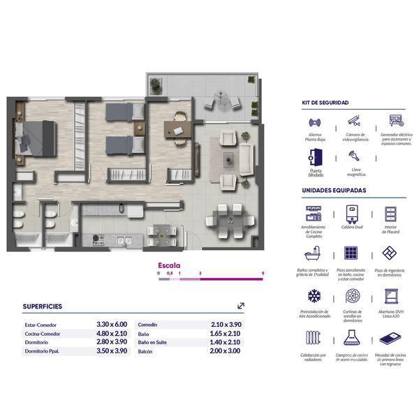 Venta departamento 3+ dormitorios Rosario, zona Centro. Cod CBU11803 AP1132261. Crestale Propiedades