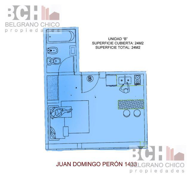 Foto Departamento en Venta en  Tribunales,  Centro (Capital Federal)  Juan Domingo Peron al 1400