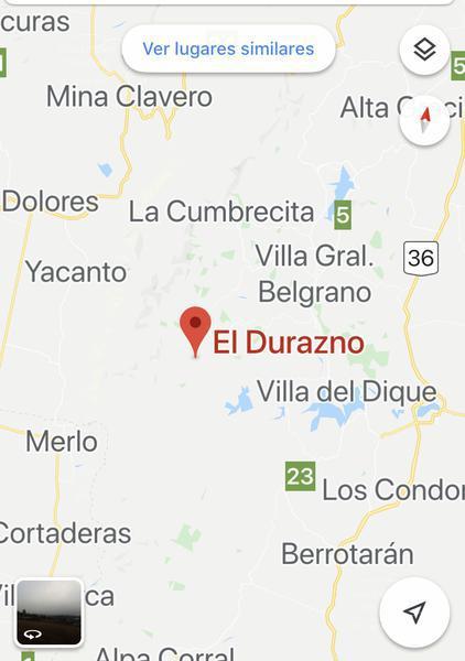Foto Terreno en Venta en  Cañada Del Durazno,  Calamuchita  El  Durazno