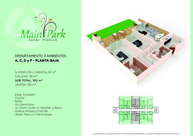 Foto Departamento en Venta en  Main Park,  Canning  Main Park