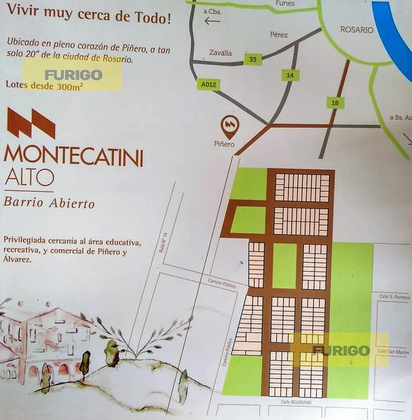 Foto Terreno en Venta en  Pueblo,  Piñero  Barrio Abierto Montecatini Alto, Piñero, lotes 57, 58, 59 y 60