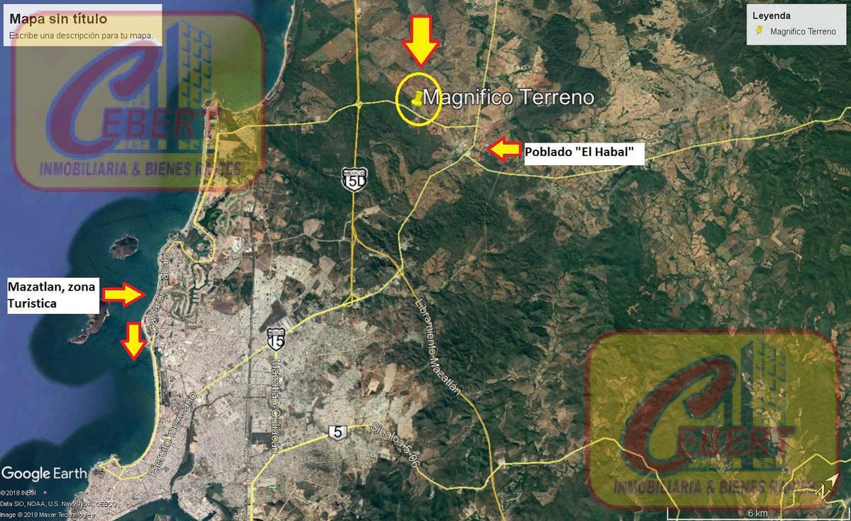 Foto Terreno en Venta en  Fraccionamiento Sábalo Cerritos,  Mazatlán  TERRENO 2 HA. EN MAZATLÁN.  CARRETERA CERRITOS HABAL O AV. MARIO HUERTA