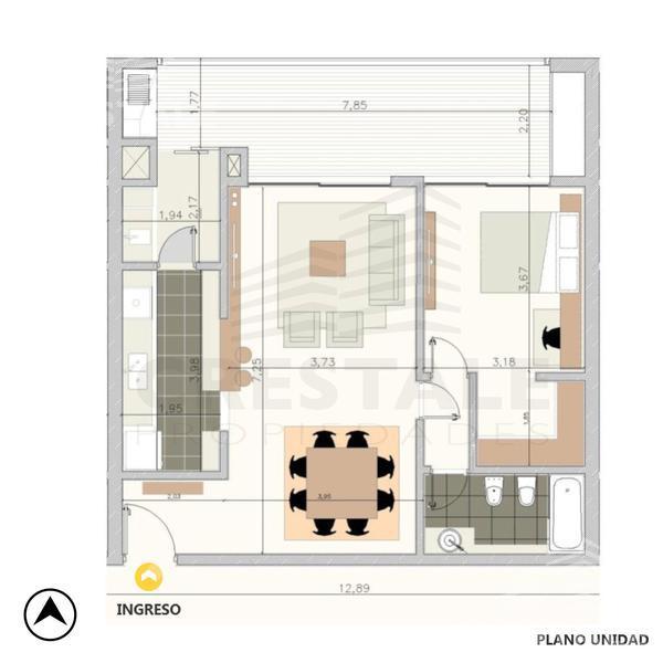 Venta departamento 1 dormitorio Rosario, zona Fisherton. Cod 4303. Crestale Propiedades