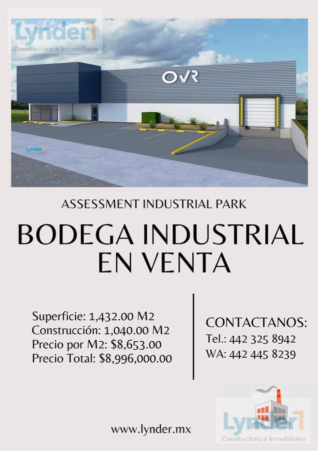 Foto Bodega Industrial en Venta en  Corregidora ,  Querétaro  BODEGA ASSESSMENT INDUSTRIAL PARK EN VENTA