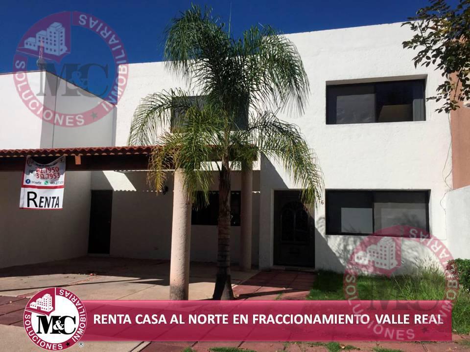 Foto Casa en Renta en  Fraccionamiento Valle Real,  Aguascalientes  RENTA CASA AL NORTE EN FRACC VALLE REAL
