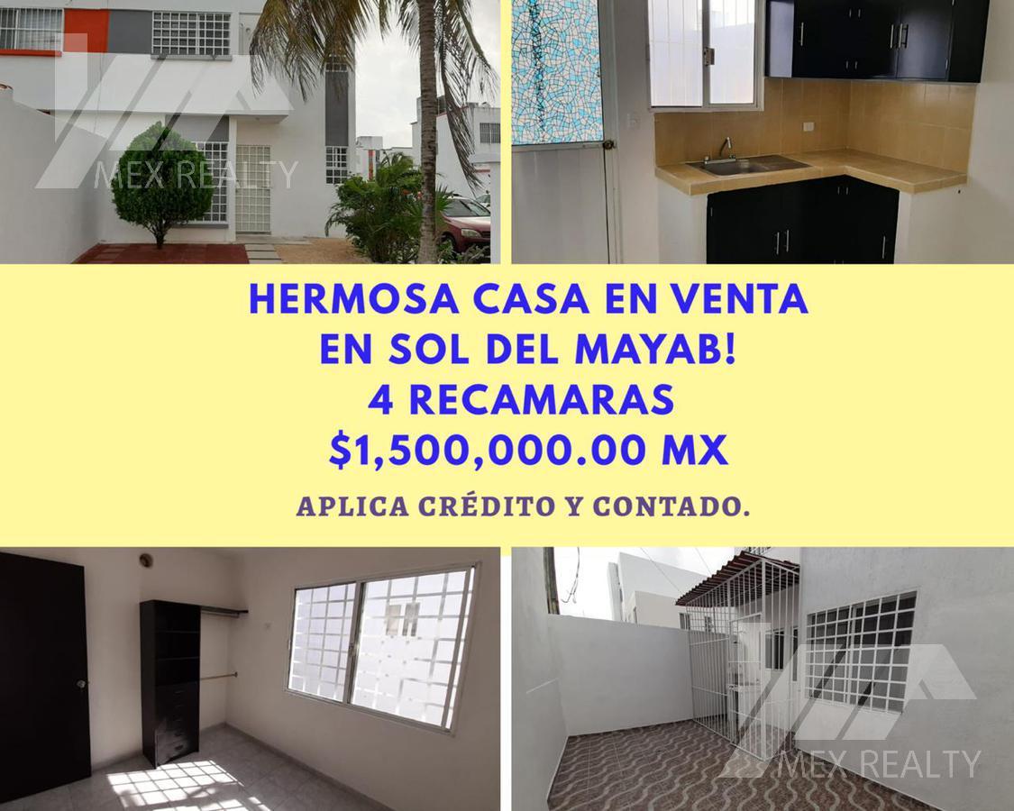 Foto Casa en Venta en  Benito Juárez ,  Quintana Roo  HERMOSA CASA EN VENTA EL SOL DEL MAYAB SM 56 CANCUN, Q. ROO