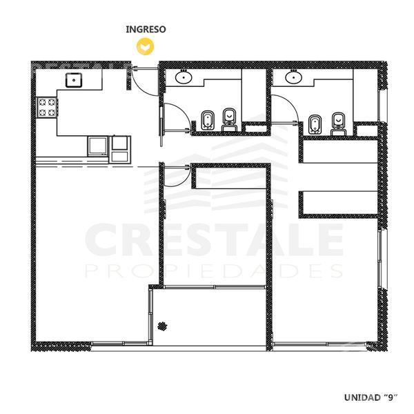 Venta departamento 2 dormitorios Funes, zona Funes. Cod CCO10337 AP763735. Crestale Propiedades