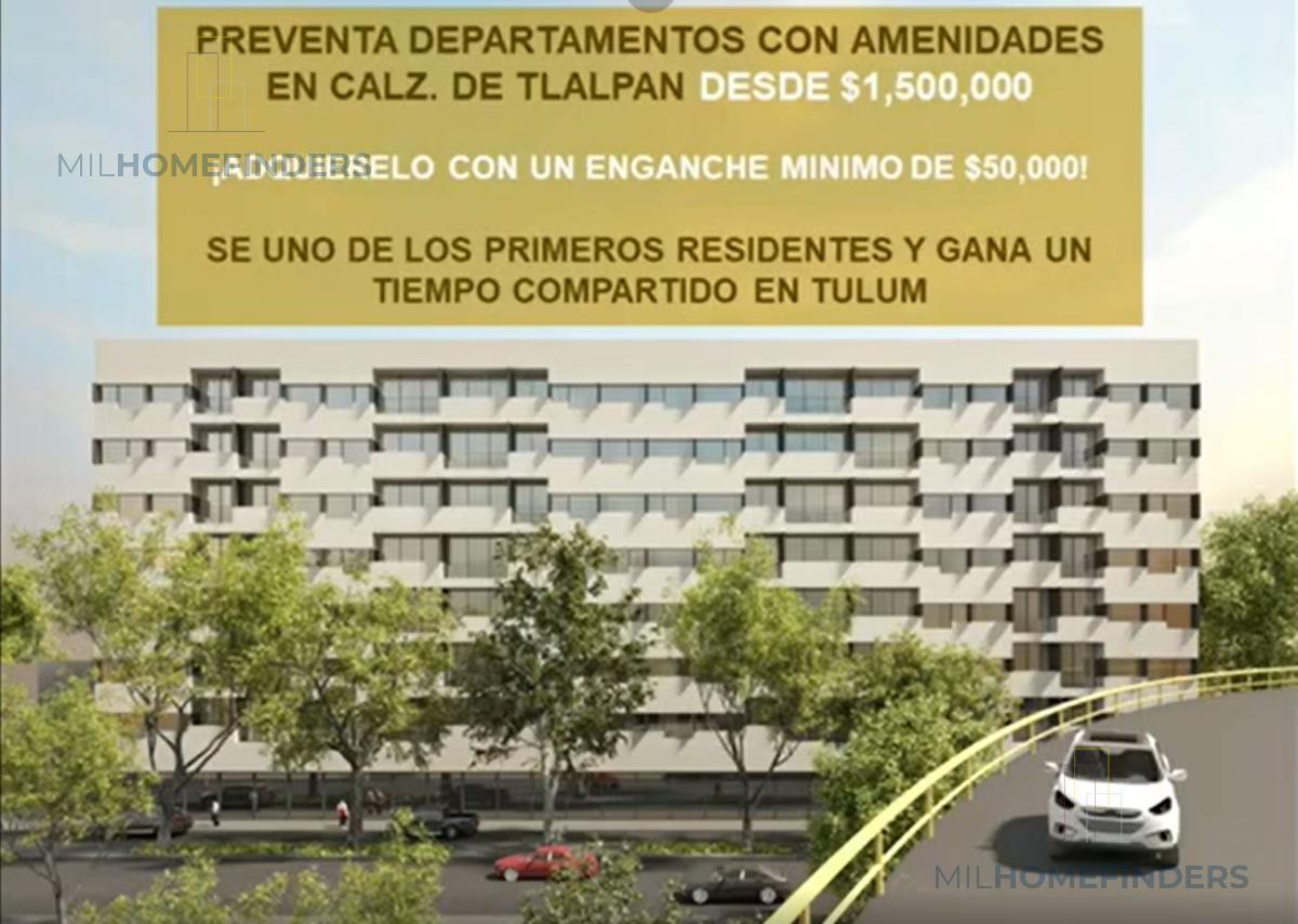 Foto Departamento en Venta en  El Reloj,  Coyoacán  GRAN PREVENTA DE DEPARTAMENTOS SOBRE CALZADA DE TLALPAN  DESDE $1.8 MDP