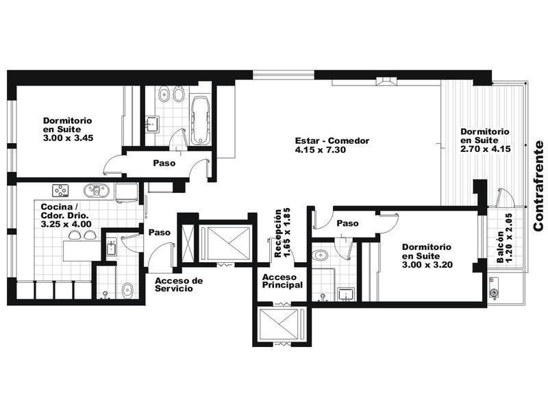 Departamento-Alquiler-Barrio Norte-Basavilbaso 1200 e/JUNCAL y ARENALES