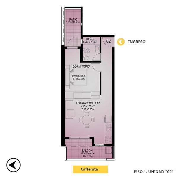Venta departamento 1 dormitorio Rosario, zona Oeste. Cod CBU13238 AP1267543. Crestale Propiedades