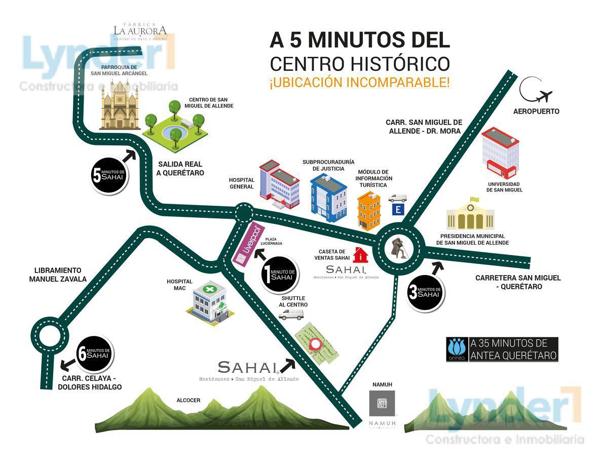Foto Terreno en Venta en  San Miguel de Allende ,  Guanajuato  INCREÍBLE TERRENO EN VENTA EN SAHAI RESIDENCES SAN MIGUEL DE ALLENDE