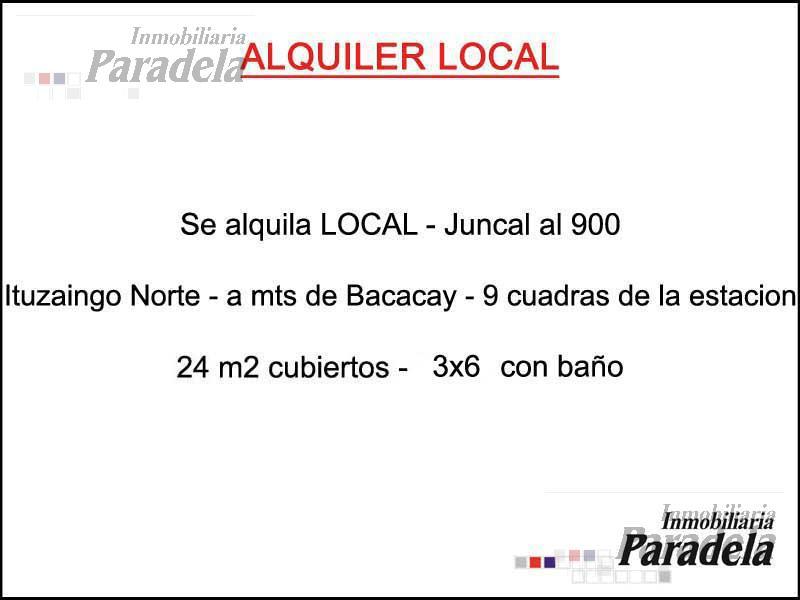Foto Local en Alquiler en  Ituzaingó,  Ituzaingó  Juncal al 900