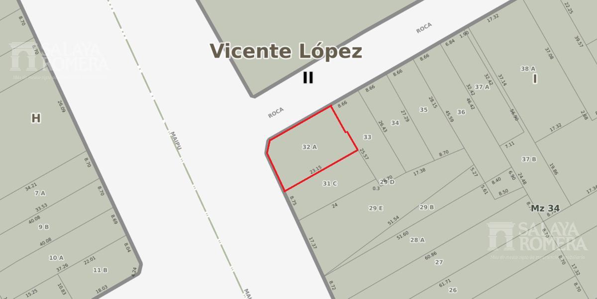 Foto Terreno en Venta en  Vicente López ,  G.B.A. Zona Norte  Av. Maipu al 1100