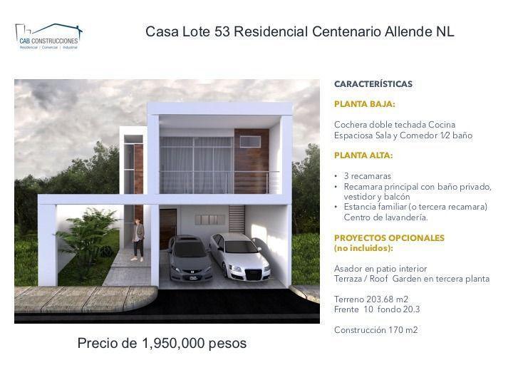 Foto Casa en Venta en  Ciudad Allende,  Allende  Casa Venta Allende Nuevo Leon (Obra gris) 60%