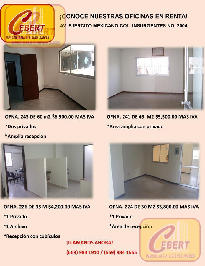 Foto Oficina en Renta en  Mazatlán ,  Sinaloa  RENTA DE OFICINAS EN MAZATLAN SINALOA BIEN UBICADAS DIFERENTES TAMAÑOS