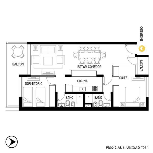 Venta departamento 2 dormitorios Rosario, zona Centro. Cod CBU11967 AP1153454. Crestale Propiedades