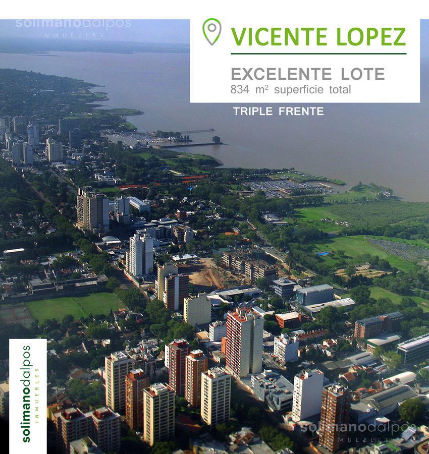 Foto Terreno en Venta en  V.Lopez-Vias/Rio,  Vicente Lopez  Uspallata al 700