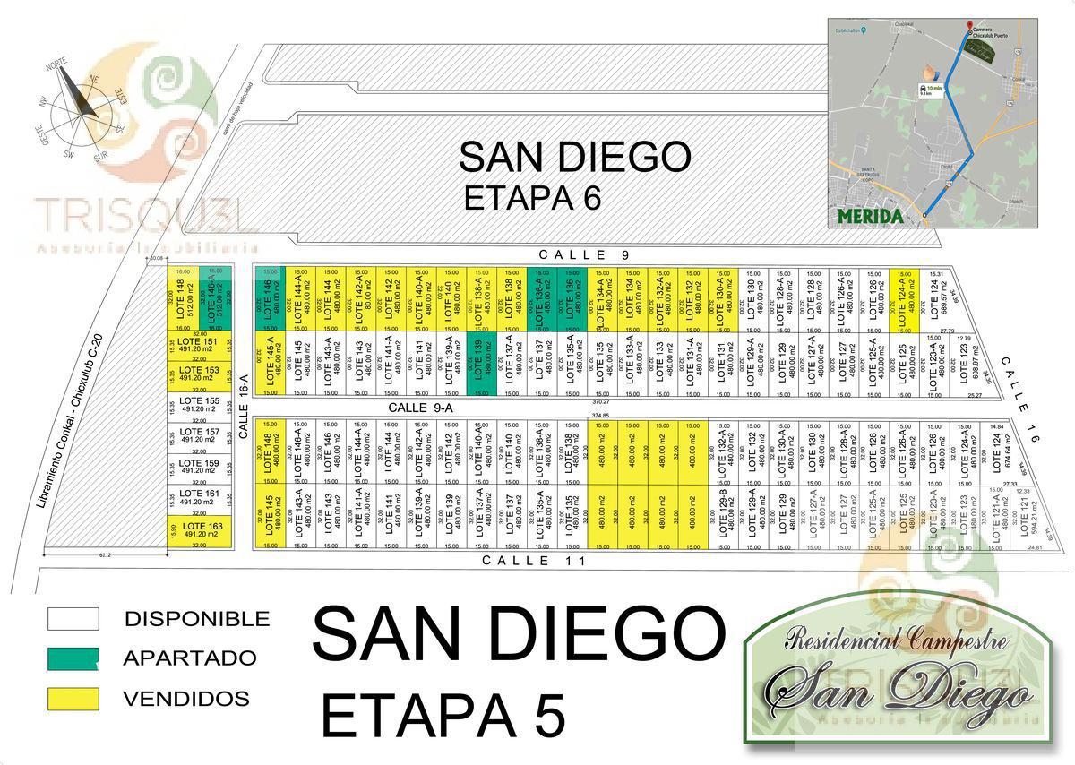 Foto Terreno en Venta en  San Diego Cutz,  Conkal       Terrenos en venta  San Diego Cutz Etapa 5, Mérida Yucatán