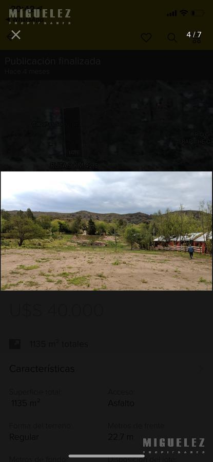 Foto Terreno en Venta en  Trapiche,  Mendoza  RUTA PROVINCIAL 9, KM 42,5 EL TRAPICHE