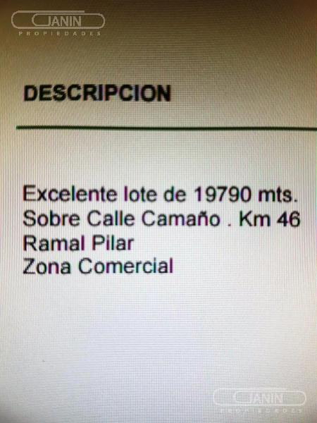 Foto Terreno en Venta en  Villa Rosa,  Pilar  Caamaño al 1000