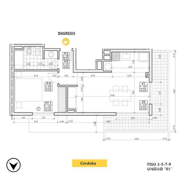 Venta departamento 1 dormitorio Rosario, zona Oeste. Cod CBU13183 AP1257668. Crestale Propiedades