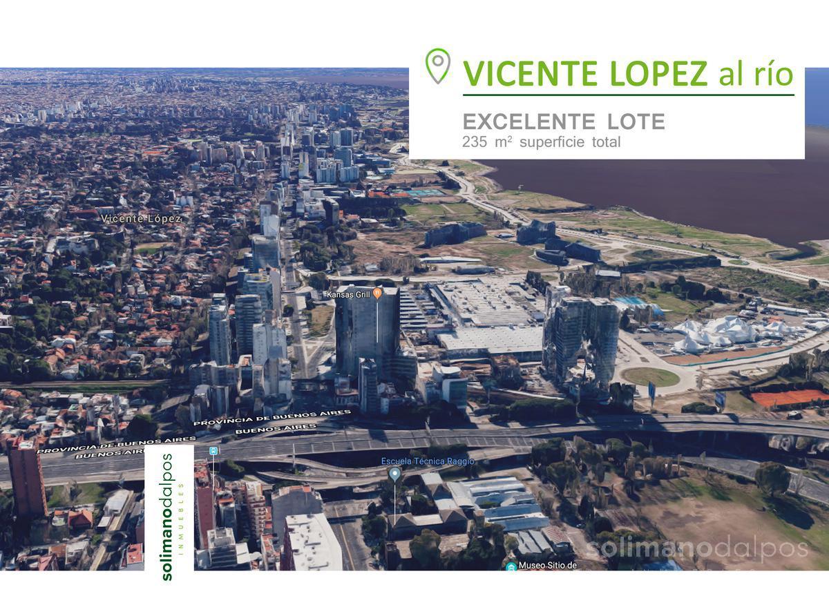 Foto Terreno en Venta en  V.Lopez-Vias/Rio,  Vicente Lopez  Zufriategui al 700