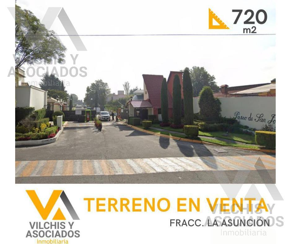 Foto Terreno en Venta en  Fraccionamiento La Asunción,  Metepec  TERRENO HABITACIONAL EN VENTA FRACC.  LA ASUNCIÓN