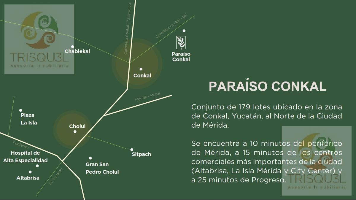 Foto Terreno en Venta en  Pueblo Conkal,  Conkal        Terrenos en venta  Paraíso Conkal, Mérida Yucatán
