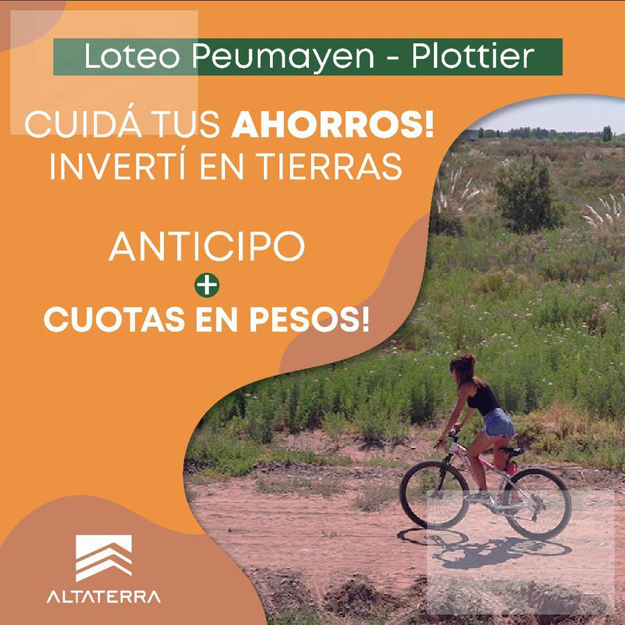 Foto Terreno en Venta en  Plottier,  Confluencia  Terrenos en Plottier Loteo Peumayen