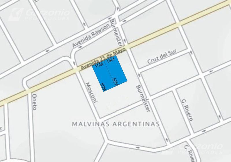 Foto Terreno en Venta en  Trelew ,  Chubut  30 x 50 frente sobre calle 25 de Mayo al 2300