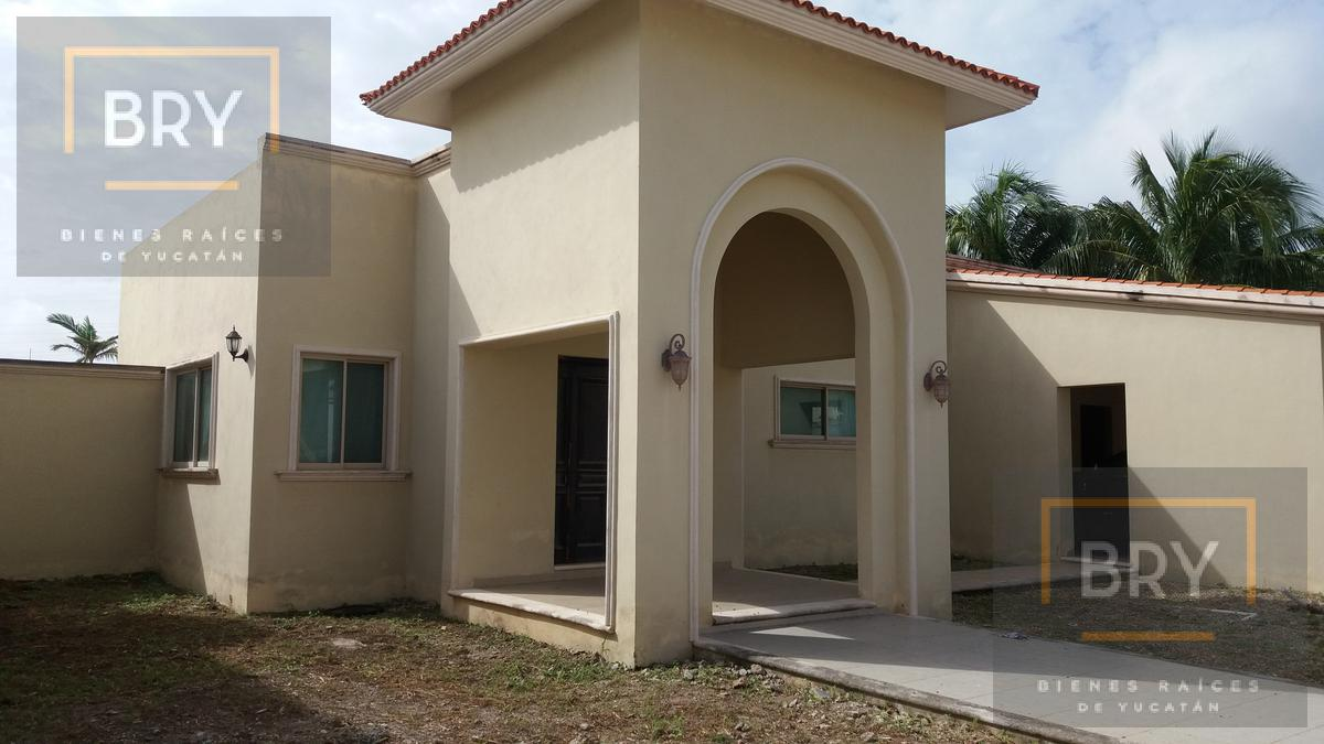 Foto Casa en Venta en  San Pedro Cholul,  Mérida  En Venta casa de una planta con piscina y gran terreno en San Pedro Cholul
