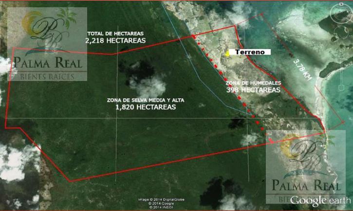Foto Terreno en Venta en  Isla de Holbox,  Lázaro Cárdenas  2,219 HECTÁREAS DE TERRENO CERCA DE HOLBOX, PAPELES EN ORDEN!