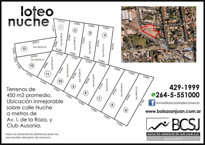 Foto Terreno en Venta en  Capital ,  San Juan  Loteo Nuche - Lote Nº 1