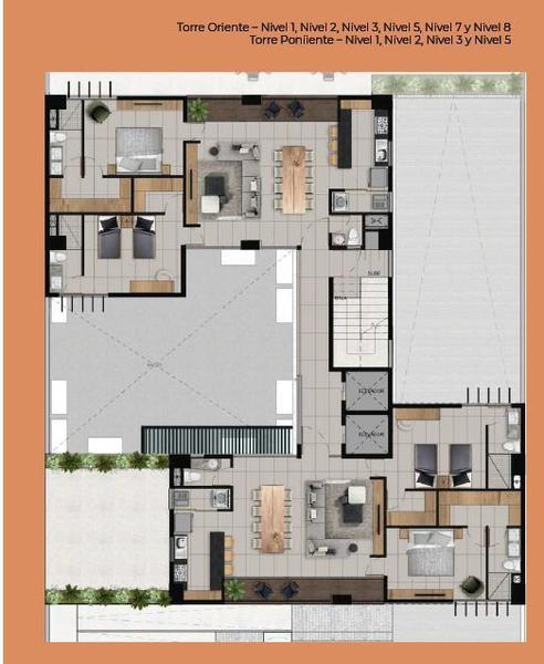 Foto Departamento en Venta en  Providencia,  Guadalajara  Departamento venta Castilleja 113m2 $4,036,500 Norram E2