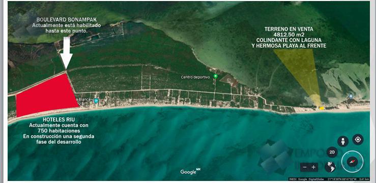 Foto Terreno en Venta en  Cancún ,  Quintana Roo  Lote Venta Isla Blanca Frente al Mar Caribe $631,875USD A1 ERM1