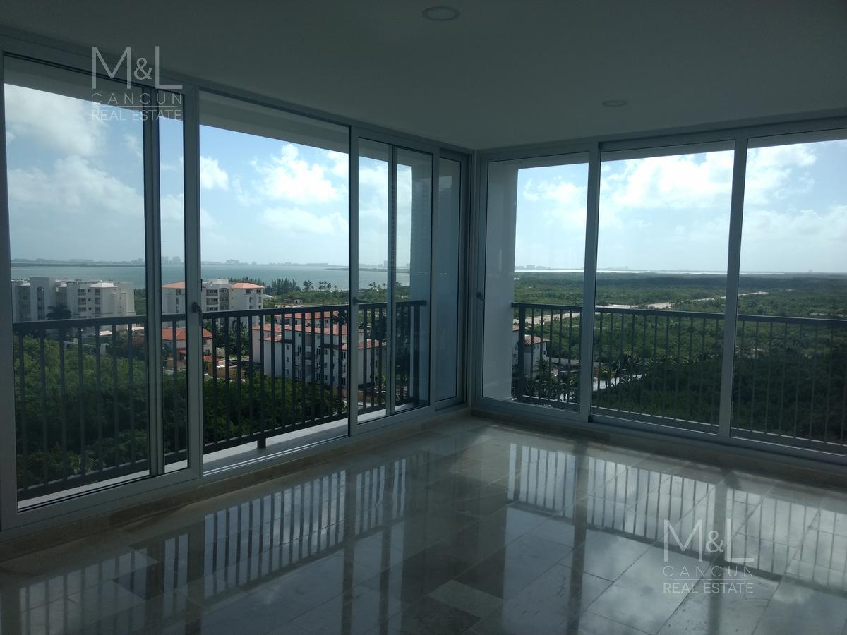 Foto Departamento en Renta en  El Table,  Cancún  Departamento en Renta en Cancùn. Brezza Towers 3 Recàmaras con  Vista a  la Laguna. El Table