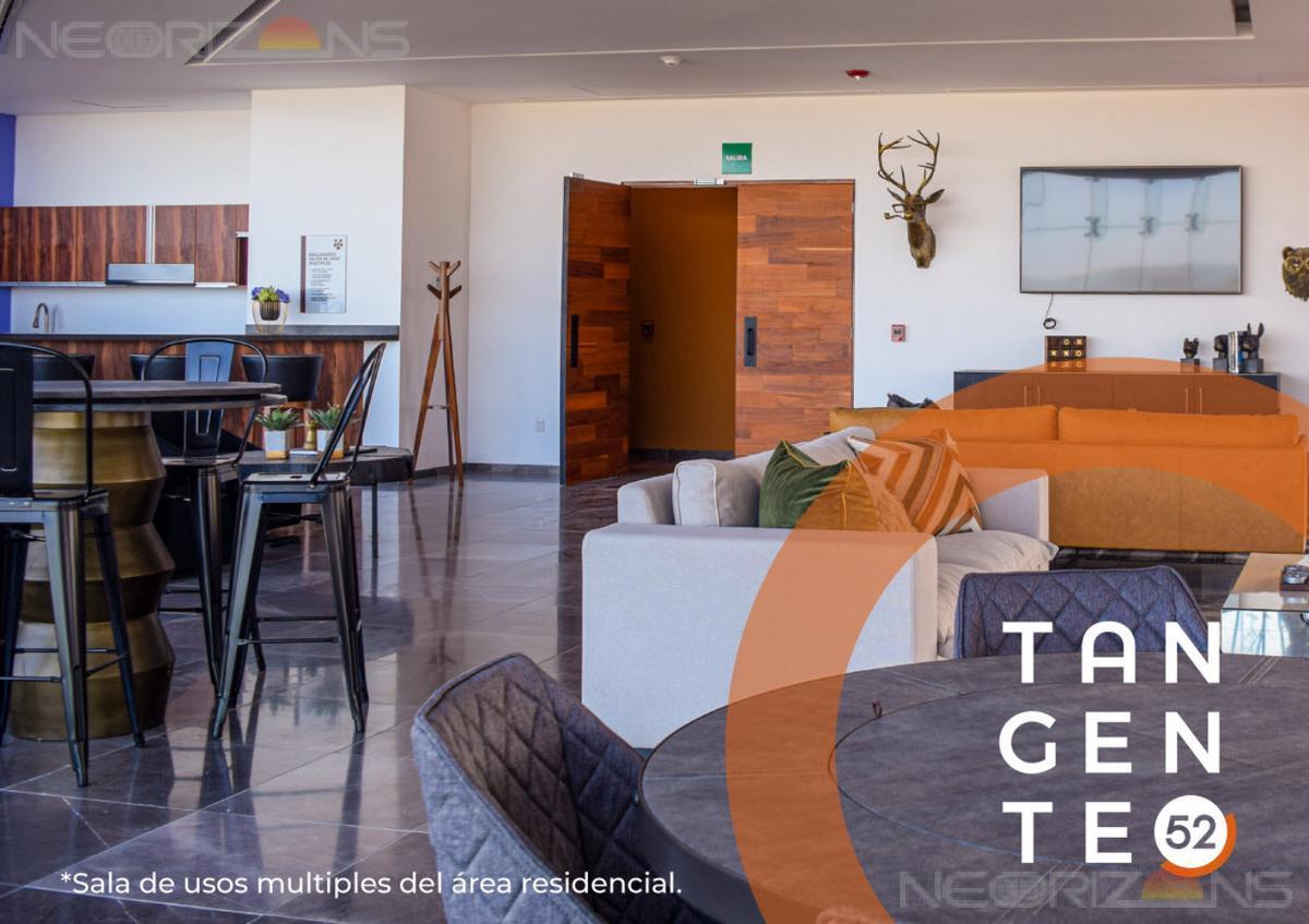 Foto Departamento en Renta en  Lomas del Tecnológico,  San Luis Potosí  AMUEBLADO Moderno Departamento Nuevo en Renta con Balcón y Vistas Panorámicas en Tangente 52 Fracc Lomas del Tec SLP