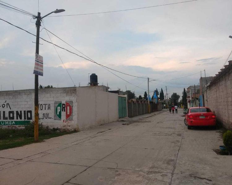 Foto Terreno en Venta en  El Rosario,  Otumba  OTUMBA, ESTADO DE MEXICO, COLONIA  EL ROSARIO, CALLE JORGE OLVERA CRUZ ESQUINA CON CALLE SOR JUANA INES DE LA CRUZ